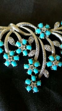 Silver & Genuine Turquoise necklace  Kenilworth, 07033