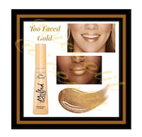 "NIB Too Faced ""Gold"" High-Glitter Liquid Foil Gold Lip Gloss Virginia Beach, 23451"