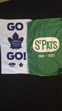 White and green Brand New toronto maple leafs and st pats towels 569 km