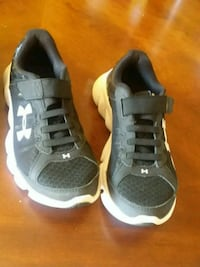 pair of gray-and-white Adidas sneakers 1808 mi
