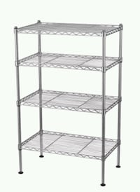 Stainless Steel Four Tiered Wire Shelves Washington, 20015