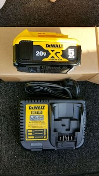 New dewalt 20v MAX XR 5.0ah battery and charger  Chantilly