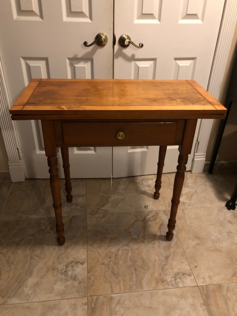 Side Table Which Opens To Large Check Chest/checkerboard Game Table. Side  Table Which Opens To Large Chess/checkerboard Game Table 16u201d Dept X 32u201d ...