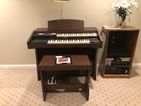 Lowrey Organ working condition with bench. Silver Spring, 20906