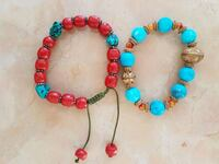red, blue, and green beaded bracelet Markham, L3T