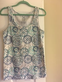White and blue floral tank top Alexandria, 22302