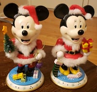 Mickey & Minnie as Mr and Mrs Claus [Wood]