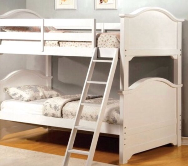 Solid Wood White Bunk Bed Usage A Vendre A Watchung Letgo