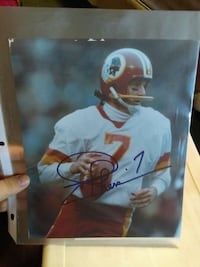 football player autographed poster Bangor, 04401