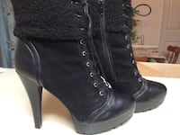 Cute black booties sz. 9