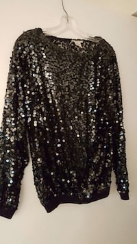 Women's Black Sequin Blouse