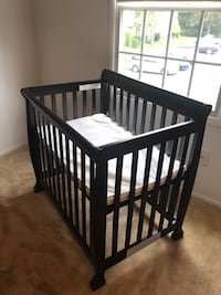 baby's black wooden crib Lorton, 22079