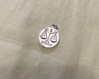 Silver and white gold mixed Libra sign pendant Brampton, L6W 3R8