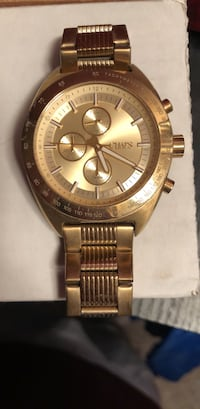 round gold Michael Kors chronograph watch with gold link bracelet Calgary, T2Y 3P7