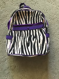 black and white zebra print leather crossbody bag Phoenix, 85053