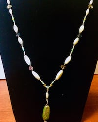 American turquoise necklace, fluorite, hematite, shell and sterling Oklahoma City, 73108