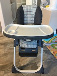 Grace high chair with mental frame, recliner seat back
