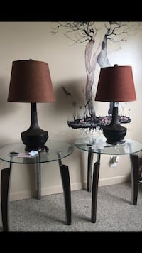2 Ashley's end tables with lamp Pembroke Pines, 33025