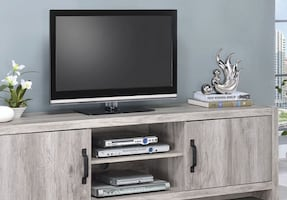 New Grey Driftwood Tv Console