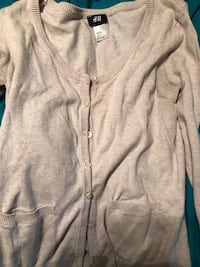 Tan H&M cardigan size small.