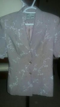 Pink and beige womens suit size 38