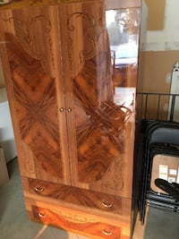 WALNUT BEDROOM DRESSER WARDROBE MADE IN ITALY BY CAMEL Calgary