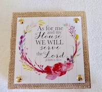 "As for me and my house we will serve the lord 4.5"" x 4.5"" wall plaque sign Palm Bay, 32908"