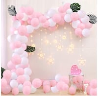 New pink white Balloon kit with ribbons Toronto, M5V 3S8
