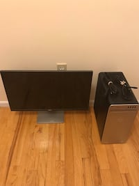 """Dell XPS 8910 Tower PC w/ Intel i5-6400, 8GB RAM & 1TB HDD ++ Dell - S2419NX 24"""" IPS LED FHD Monitor - Black/Silverware Manorhaven, 11050"""