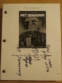 Stephen Kings Pet Sematary autographed Las Vegas, 89121