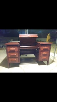 brown wooden single pedestal desk Albuquerque, 87120