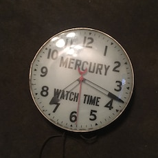 round silver Mercury Watch Time analog watch