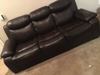 Chocolate leather 3-seat sofa and love seat included $250 for all. Need gone today! Pick up only  North Las Vegas, 89081