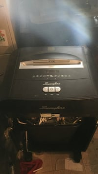 Black Swinglne Paper shredder.  Retails $1300 Vancouver, V6A