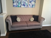 Brown fabric 2-seat sofa Aurora, L4G