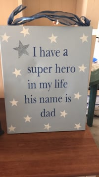 Dad superhero canvas sign  Mount Joy, 17552