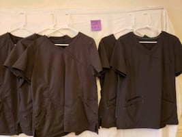 Scrubs: assorted size bottoms, size large tops
