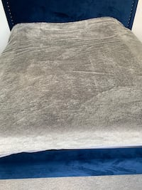 GreY fur blanket from urban barn. Fits over a king size bed   Burnaby, V5A 1J1