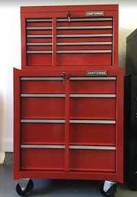Tool box - CRAFTSMAN toolbox set: top tool chest and rolling tool cart / cabinet - Brand new Fort Lauderdale, 33305