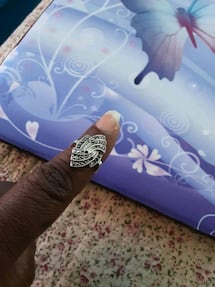 Silver ring size 6  very beautiful ring