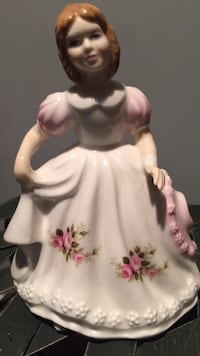 white and pink floral ceramic figurine Vaughan, L4H 1J9