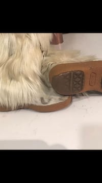 Real fur boots