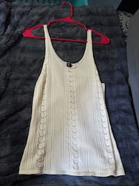 Maurices cream colored tank top size small