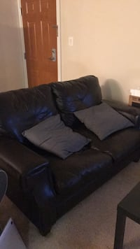 Brown leather couch  Bethesda