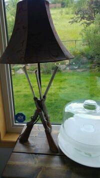 Nice detailed rifle lamp was$395.00 Calgary, T3A 5T4