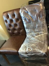 New brown tufted chairs $80 each Vaughan, L4K 4Z9