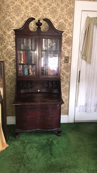 Antique secretarial desk solid cherry  wood. Books  Not included Linden, 07036