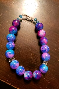 Multi color galaxy bracelet