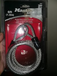 6 ft. Master Lock braided steel loop-end cable