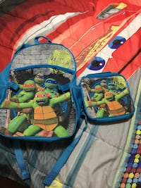 Ninja Turtles and detachable lunch bag new Keswick, L4P 3Y5